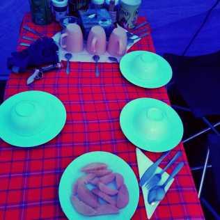 Mangoes & Mess tent setup